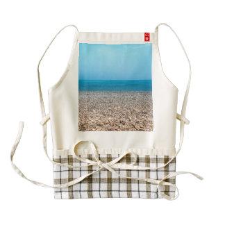 Beautiful Stone Beach Zazzle HEART Apron
