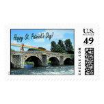 Beautiful Stone Bridge and River  Kildare, Ireland Stamp
