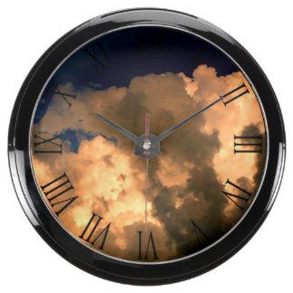Beautiful Storm Cloud Nature Sky Photo Aquarium Clock
