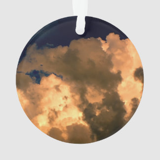 Beautiful Storm Cloud Nature Sky Photo Ornament