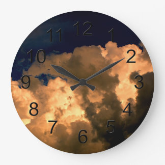 Beautiful Storm Cloud Nature Sky Photo Wall Clocks