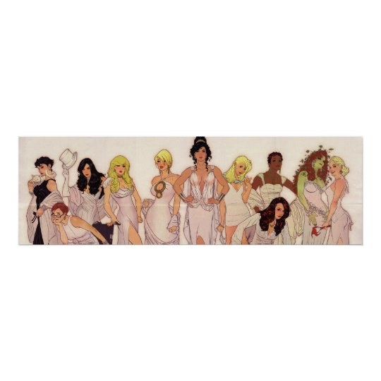 Beautiful strong female Goddesses invoking power Poster