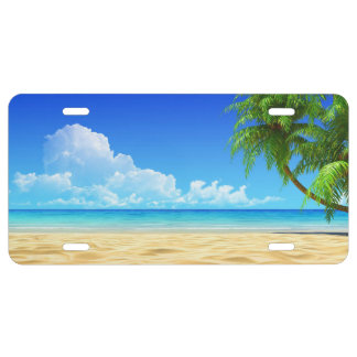 Beautiful Summer Beach 2 License Plate