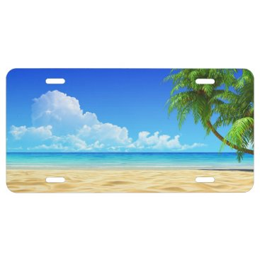 Beach Themed Beautiful Summer Beach 2a License Plate