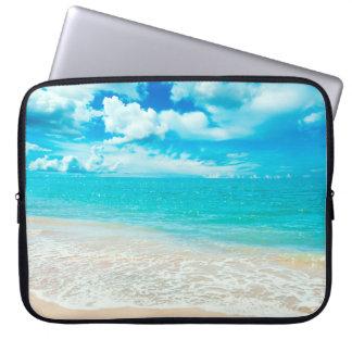 Beautiful Summer Beach Laptop Sleeve