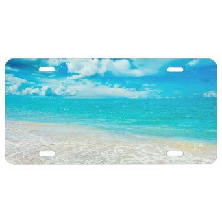 Beautiful Summer Beach License Plate