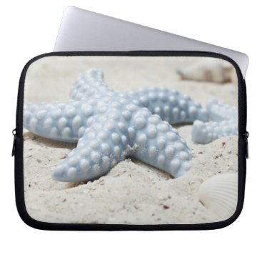 Beach Themed Beautiful summer beach sea star shell and sand computer sleeve