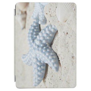 Beach Themed Beautiful summer beach sea star shell and sand iPad air cover