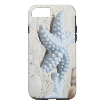 Beach Themed Beautiful summer beach sea star shell and sand iPhone 7 case