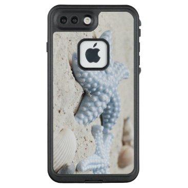 Beach Themed Beautiful summer beach sea star shell and sand LifeProof FRĒ iPhone 7 plus case
