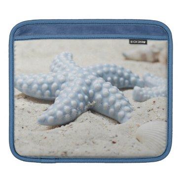 Beach Themed Beautiful summer beach sea star shell and sand sleeve for iPads