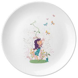 Beautiful Summer Flowers dinner plate Porcelain Plates
