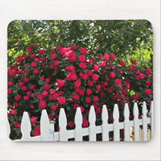 Beautiful Summer Garden; Picket Fence. Mouse Pad