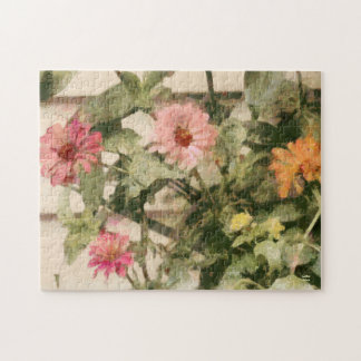 Beautiful Summer Painted Floral Jigsaw Puzzle