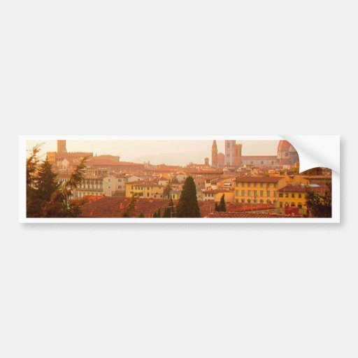 Beautiful summer view from Florence Bumper Sticker
