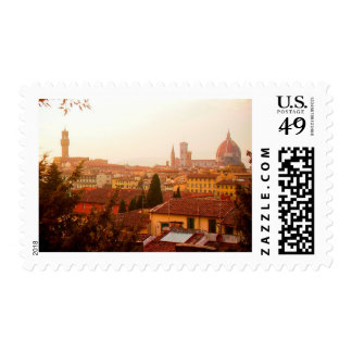 Beautiful summer view from Florence Postage