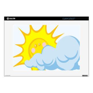 "Beautiful Sun-Behind-Cloud 15"" Laptop Skins"