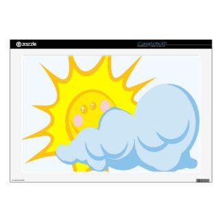 "Beautiful Sun-Behind-Cloud 17"" Laptop Skins"