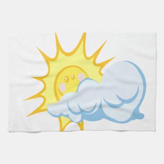 Beautiful Sun-Behind-Cloud Towel