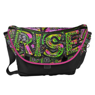 Beautiful Sun Rise ~ Uplifting Graphic Message Courier Bag