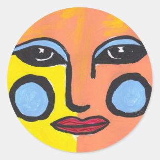 Beautiful Sun Round Sticker