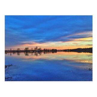 Beautiful sundown tarjeta postal