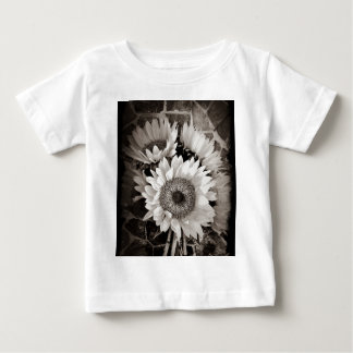 Beautiful Sunflower Bouquet Photo in Black & White Tees