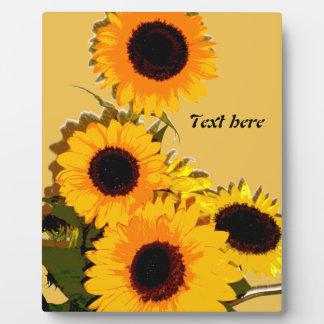 Beautiful sunflower bouquet plaque