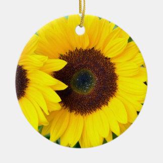 Beautiful sunflower christmas ornament