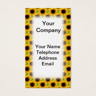 Beautiful Sunflower Field Texture Business Card