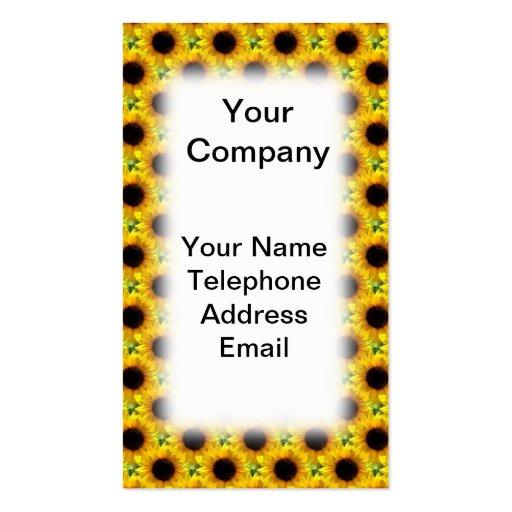 Beautiful Sunflower Field Texture Business Cards