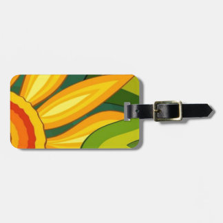 Beautiful Sunflower Tag For Bags