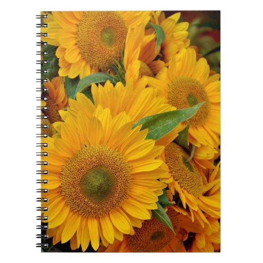 Beautiful sunflower notebook