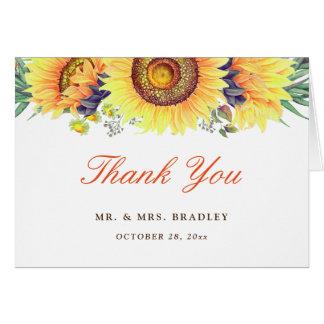 Beautiful Sunflower Stylish Seasonal Thank You