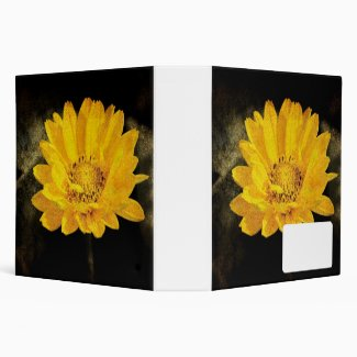 Beautiful Sunflower with Dark Brown Background...