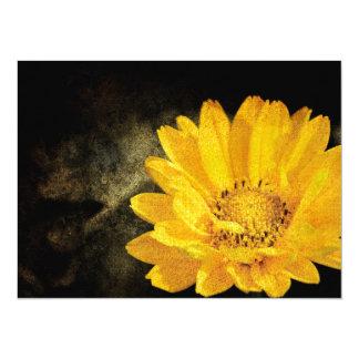 Beautiful Sunflower with Dark Brown Background Card