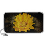 Beautiful Sunflower with Dark Brown Background Portable Speakers