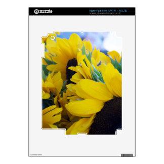 Beautiful Sunflowers Decal For iPad 3