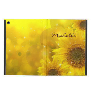 Beautiful Sunflowers Personalized iPad Case