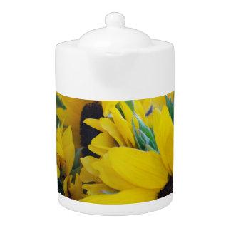 Beautiful Sunflowers Teapot