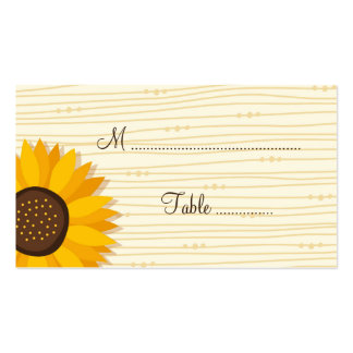 Beautiful sunflowers wedding place card