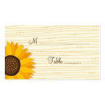 Beautiful sunflowers wedding place card Double-Sided standard business cards (Pack of 100)