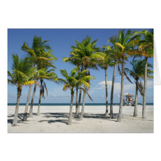 Beautiful Sunny Beach in Afternoon Greeting Card