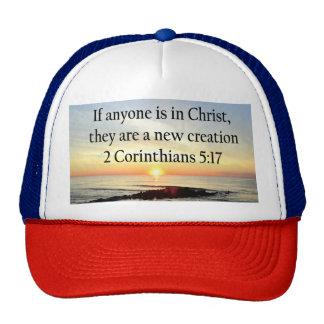 BEAUTIFUL SUNRISE 2 CORINTHIANS 5:17 DESIGN TRUCKER HAT
