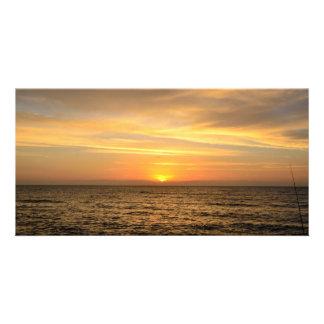 Beautiful sunrise at Florida, USA photo card