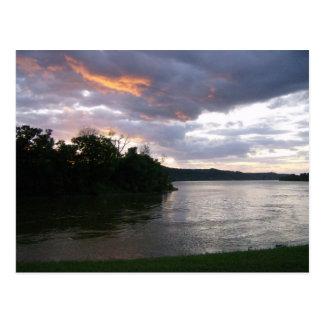 Beautiful Sunrise at Ohio River Postcard