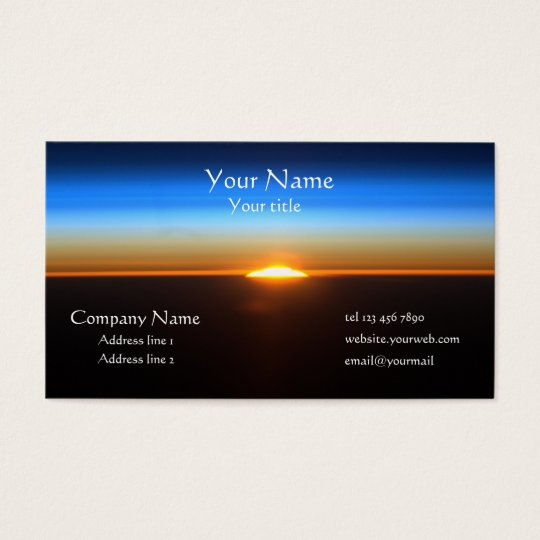 Beautiful sunrise in space business card zazzle beautiful sunrise in space business card colourmoves Image collections