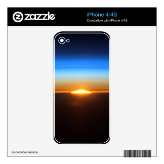 Beautiful sunrise in space decals for iPhone 4