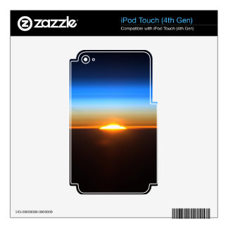 Beautiful sunrise in space iPod touch 4G decal
