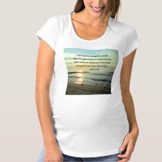BEAUTIFUL SUNRISE JOHN 3:16 DESIGN MATERNITY T-Shirt